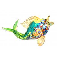 Скульптура рыба с мурринами из муранского стекла