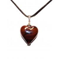 Подвеска Сердце Фабио матовая из муранского стекла