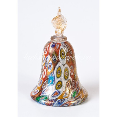 Фигурка Колокол миллефиори из Муранского стекла