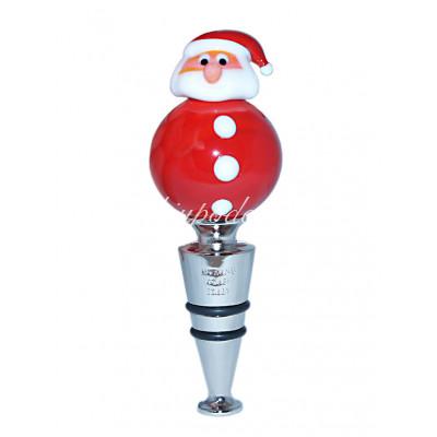 """Пробка для бутылки """"Дед Мороз"""" из Муранского стекла"""