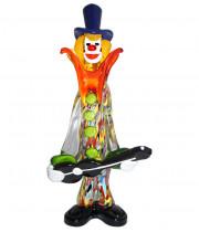 Фигурка клоуна музыканта из муранского стекла
