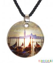 Подвеска круглая Венеция из Муранского стекла