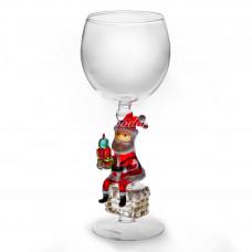 Бокал для вина «Дед Мороз на трубе»