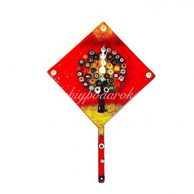 Настенные часы Дерево Жизни с маятником из муранского стекла