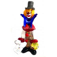 Фигурка клоун с шаром из муранского стекла