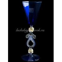 Бокал Cobalto из Муранского стекло