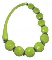"""Колье """"Круасан софиатто"""" зеленое из муранского стекла"""