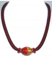 Колье с бусиной олива из Муранского стекла
