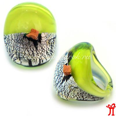 Кольцо oro rotto из муранского текла