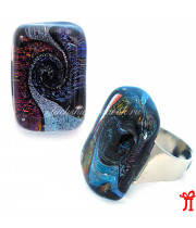 Кольцо самородок из муранского стекла