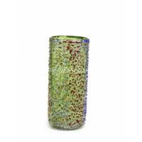 Ваза для цветов зеленая с крошкой