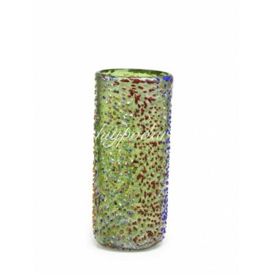 Ваза зеленая с крошкой из муранского стекла