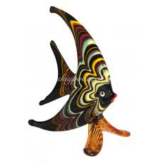 Фигурка рыбка плоская в финикийском стиле муранское стекло
