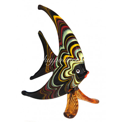 Фигурка Рыбка плоская муранское стекло