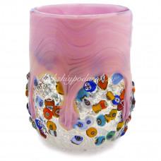 Стакан розовый из Муранского стекла