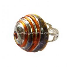 Кольцо кабашон из Муранского стекла
