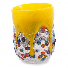 Стакан желтый из Муранского стекла