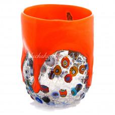 Стакан оранжевый из Муранского стекла