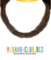 Ожерелье  бисерное 42 нити из Венецианского стекла