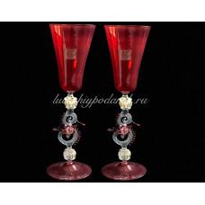 Бокал Rosso из муранского стекло