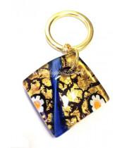 Брелок для ключей ромб 3х3 см из Муранского стекла