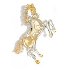 """Скульптура """"Золотой конь"""" из Муранского стекла"""