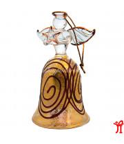 Колокольчик Ангел из стекла