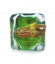 Кольцо Аква зеленое из Муранского стекла