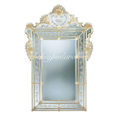 Зеркало с декором из Муранского стекла