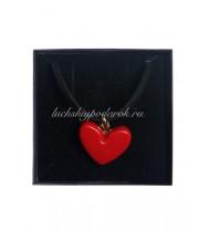 Подвеска Сердце микелла Муранское стекло