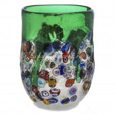 Стакан зеленый прозрачный из Муранского стекла