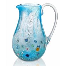 Кувшин голубой из Муранского стекла