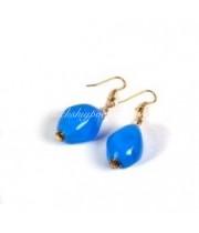 Серьги голубые воздушные из муранского стекла