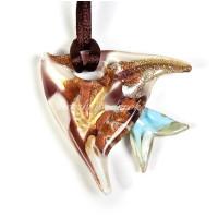 Подвеска рыбка плоская из Муранского стекла