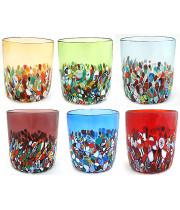 Набор разноцветных стаканов из муранского стекла