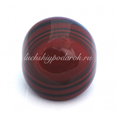 Кольцо кабашон полосатое из муранского стекла