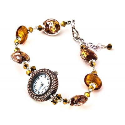 """Часы """"Сандра"""" с браслетом из муранского стекла"""