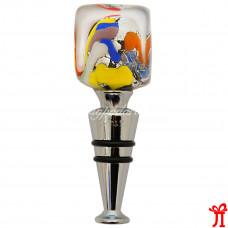 """Пробка для бутылки винная """"Квадро"""" из муранского стекла"""