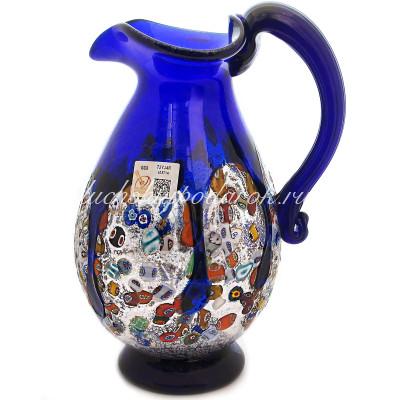 Кувшин синий из Муранского стекла