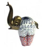 Фигурка Слон большой с мурринами из Муранского стекла