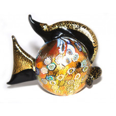 Фигурка рыбка круглая из муранского стекла