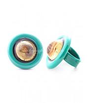 Кольцо Эклисси круглое из Муранского стекла