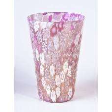 Стакан миллефиори розовый  из муранского стекла