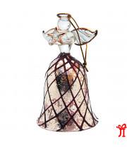 Колокольчик ангел со звездой из стекла