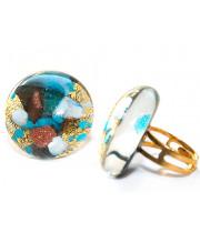 Кольцо тондо люме из Муранского стекла  безразмерное