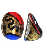 Кольцо Кандинский люме из Муранского стекла