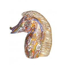 Фигурка лошади миллефиори из муранского стекла