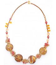 Колье Фабио perla lume из Муранского стекла