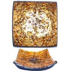 Пепельница с сусальным золотом из Муранского стекла