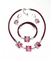 Набор Quadrati rosa из муранского стекла